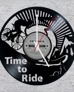 Time to ride LP Vinyl Clock