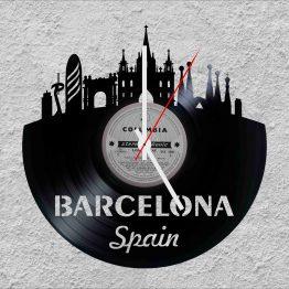 Barcelona Spain LP Vinyl Clock