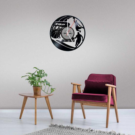 Basketball LP Vinyl Clock
