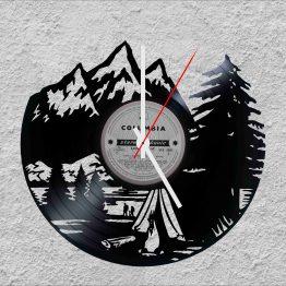 Camping LP Vinyl Clock
