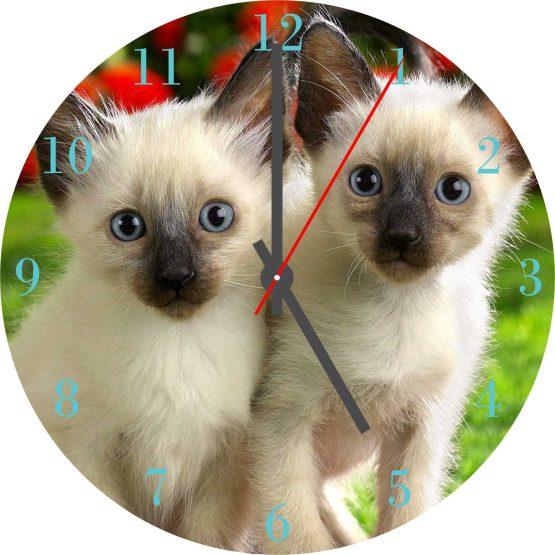 Cat CD Clock