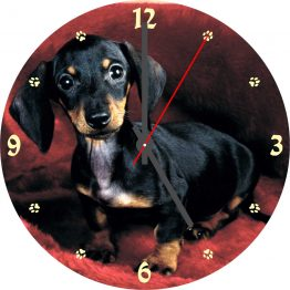 Dachshund CD Clock
