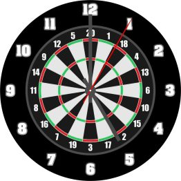 Dart Board CD Clock