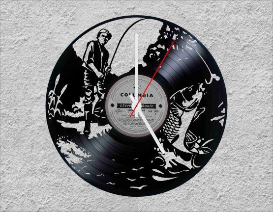Fishing LP Vinyl Clock