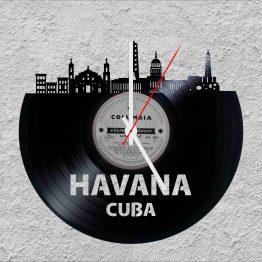 Havana Cuba LP Vinyl Clock
