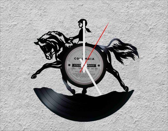 Horse Riding LP Vinyl Clock