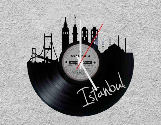 Istanbul LP Vinyl Clock
