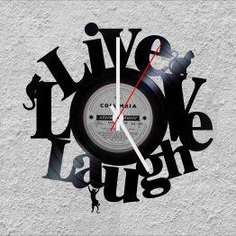 Live Love Laugh LP Vinyl Clock