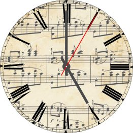 Music Note CD Clock