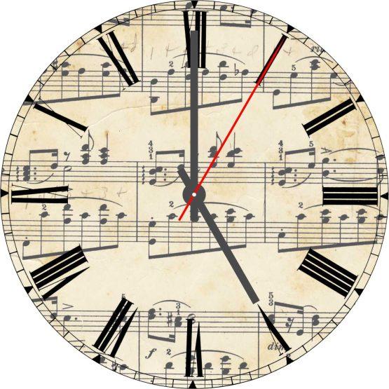 Music Note CD Clock