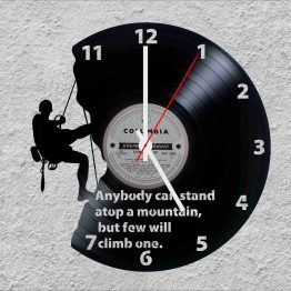 Rock climbing LP Vinyl Clock
