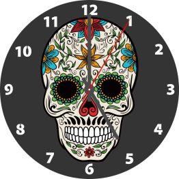 Skull CD Clock