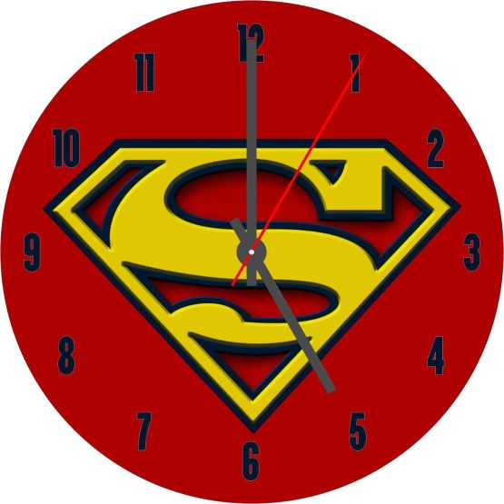 SuperMan CD Clock