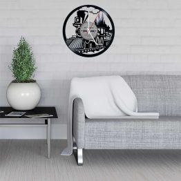 Train LP Vinyl Clock