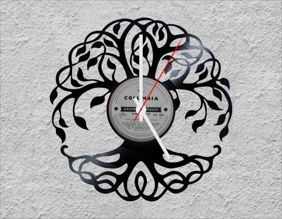 Tree of Life LP Vinyl Clock