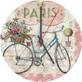 Vintage Bicycle CD Clock