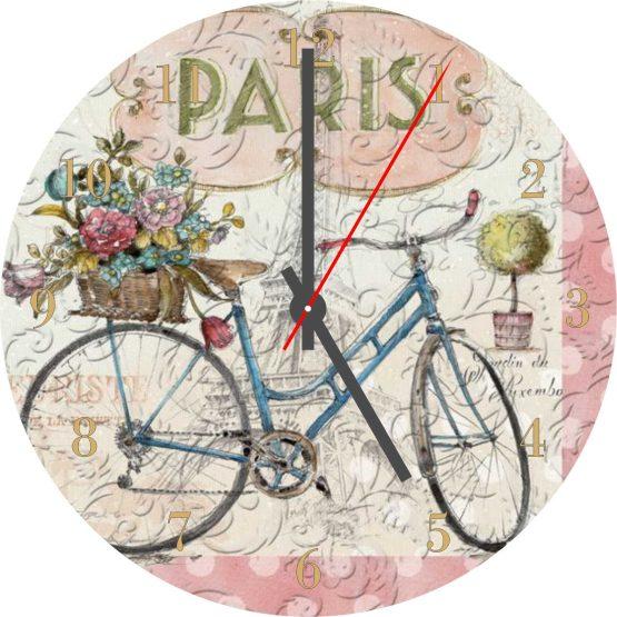 Vintage Bicycle CD Clock